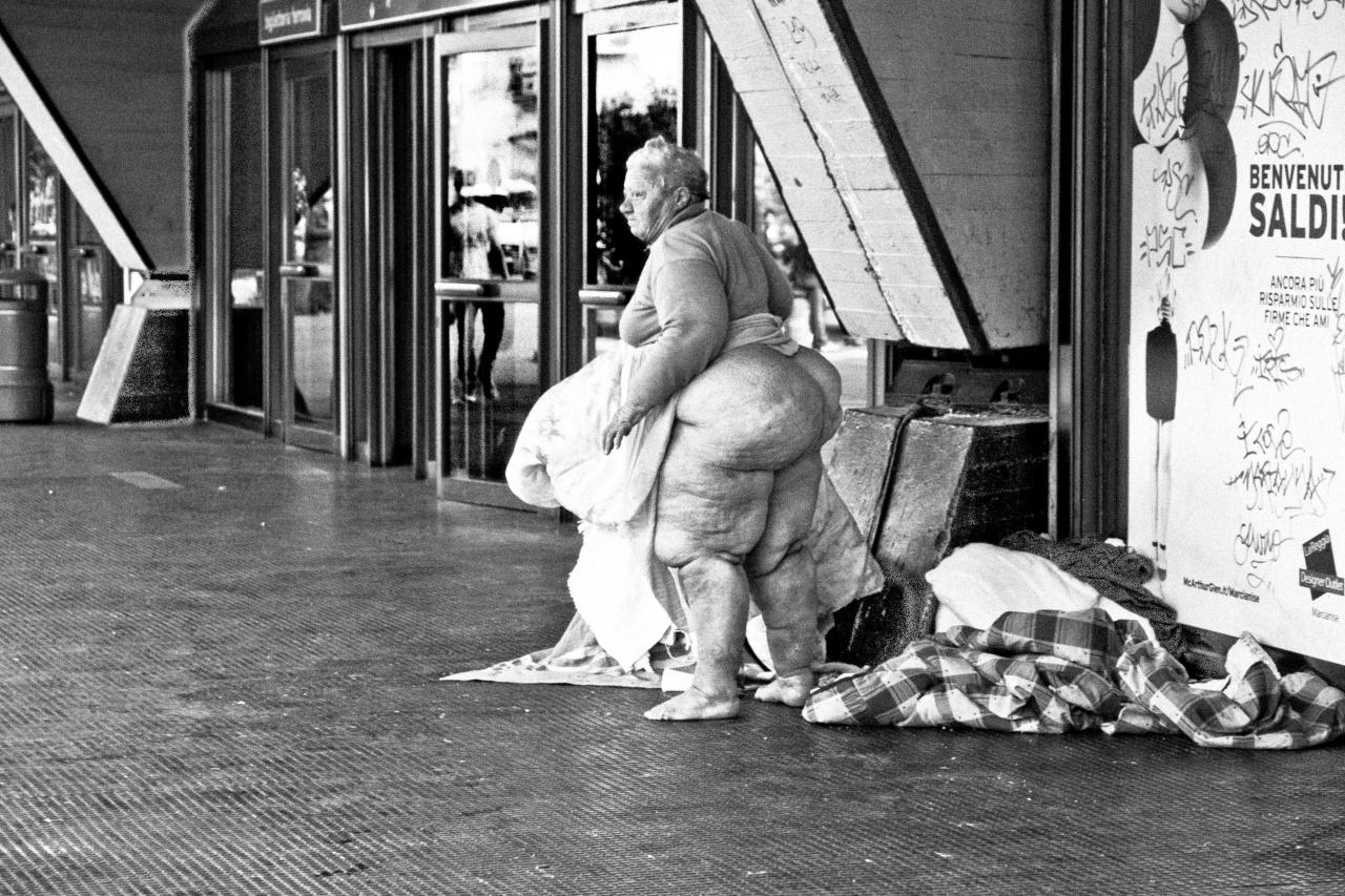 Homeless Woman outside a Train Station (Gina)