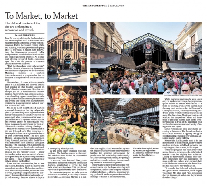 In Barcelona, Making the Markets Fresh Again