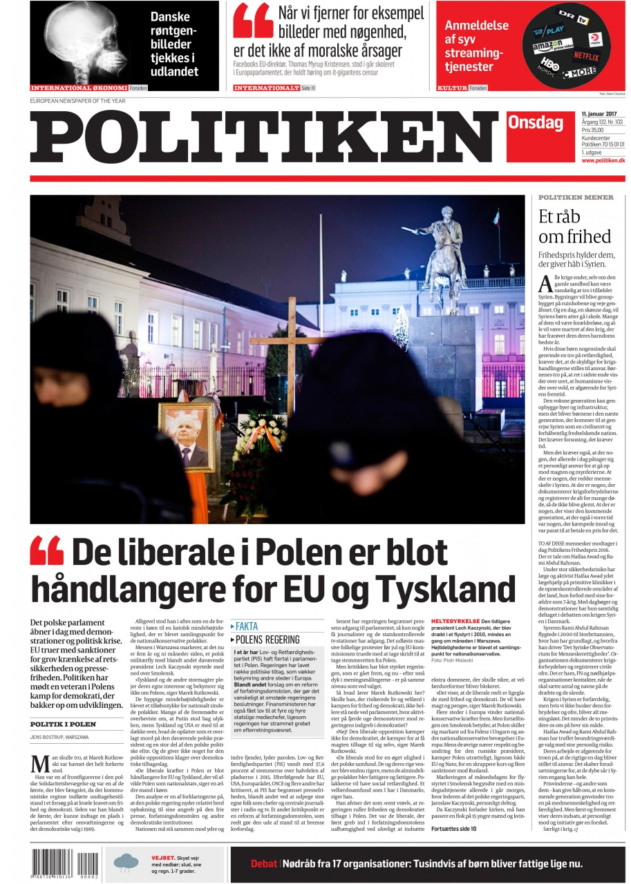 Politiken 1/2017 front page
