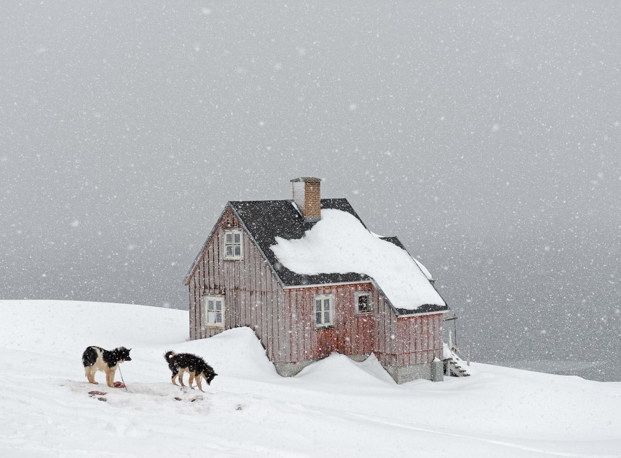 Snowing, Kuummiut, 2015