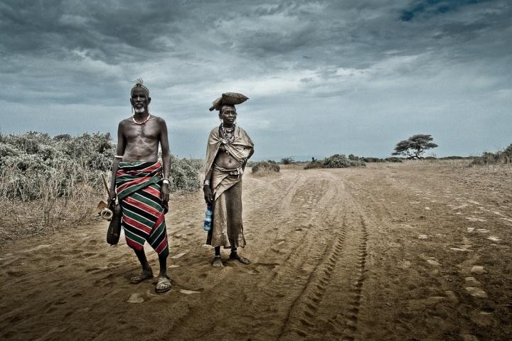 Daasanech couple, South Omo, Ethiopia