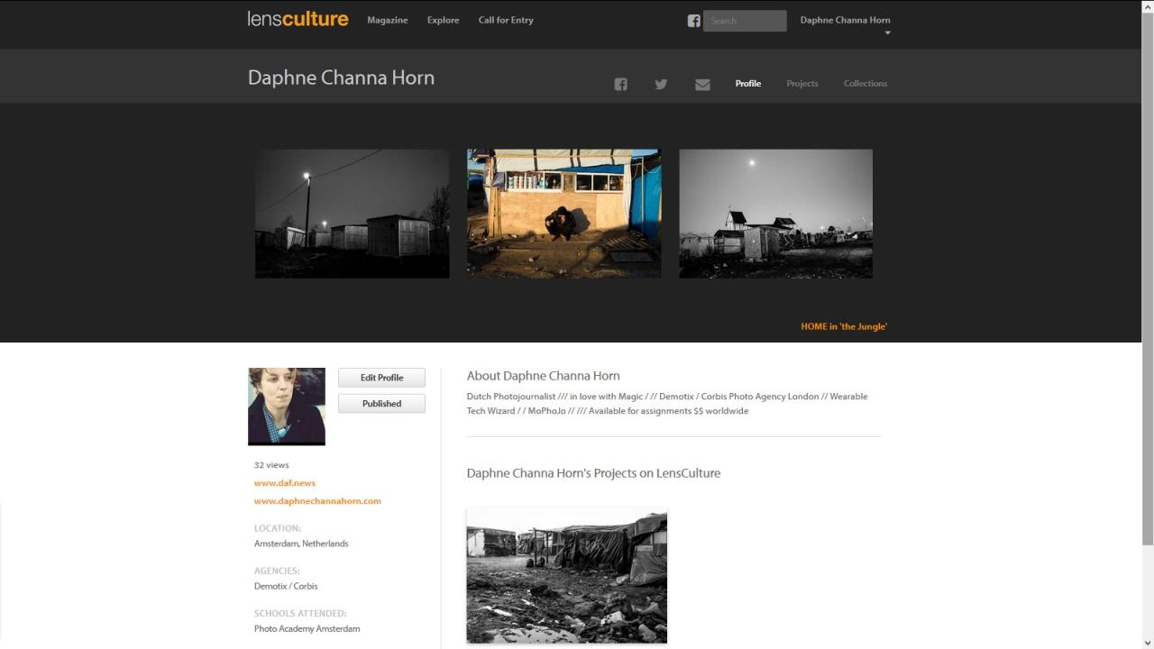 Lens Culture profile