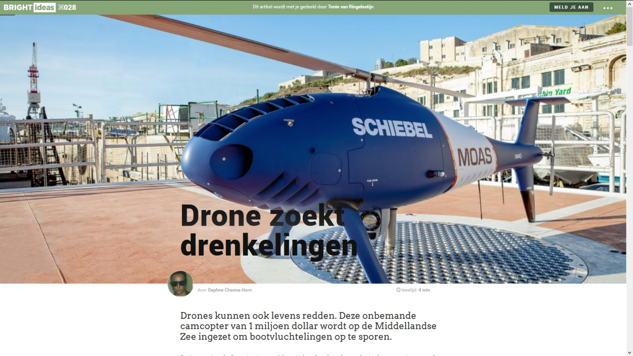 Drone seeks drowning people