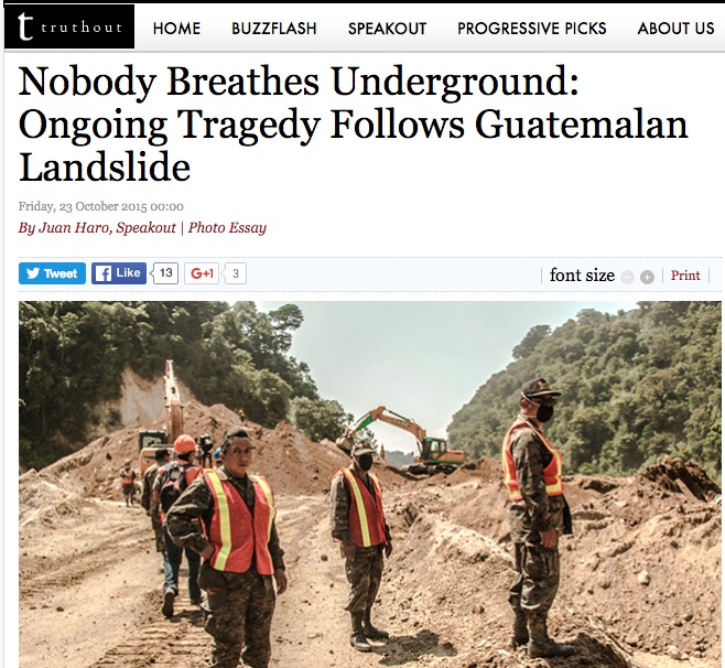 Media pitch on Guatemalan landslide