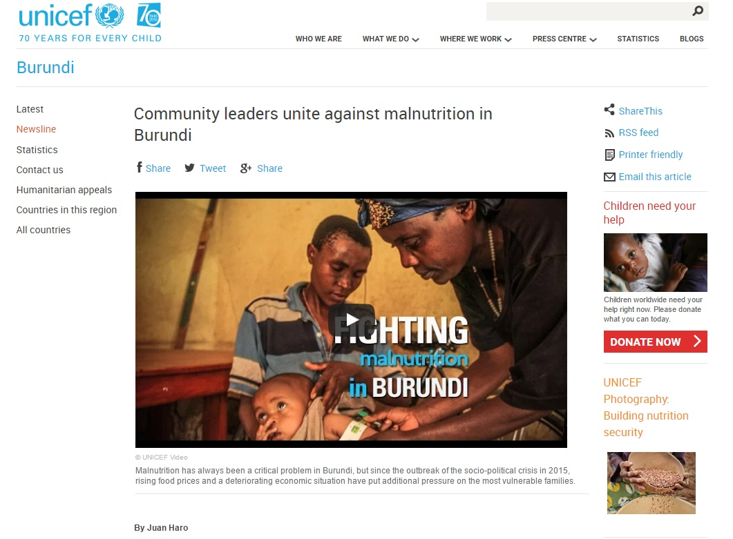 Multimedia Production for UNICEF