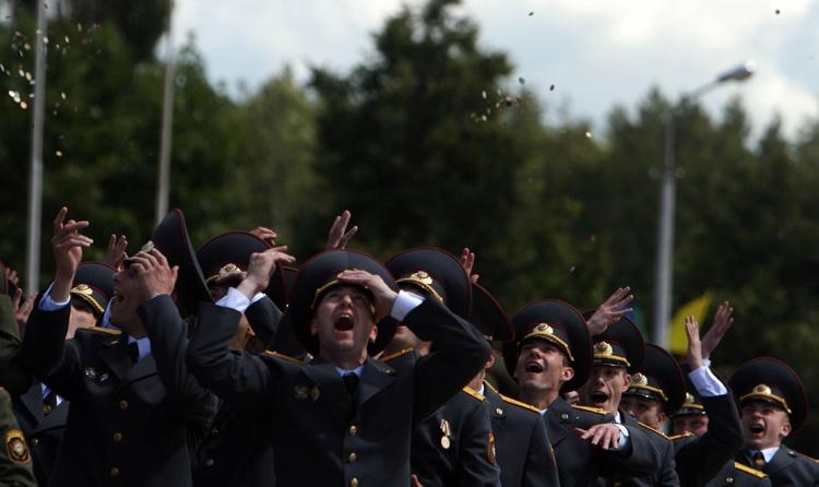 Belarusian military academy graduation ceremony