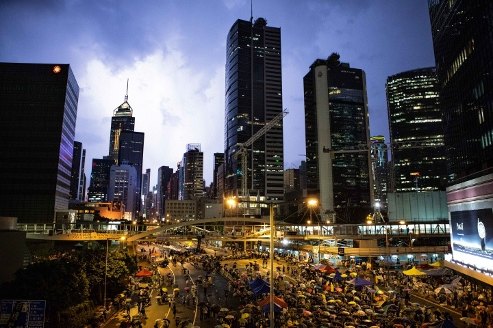 Storm on Occupy Central