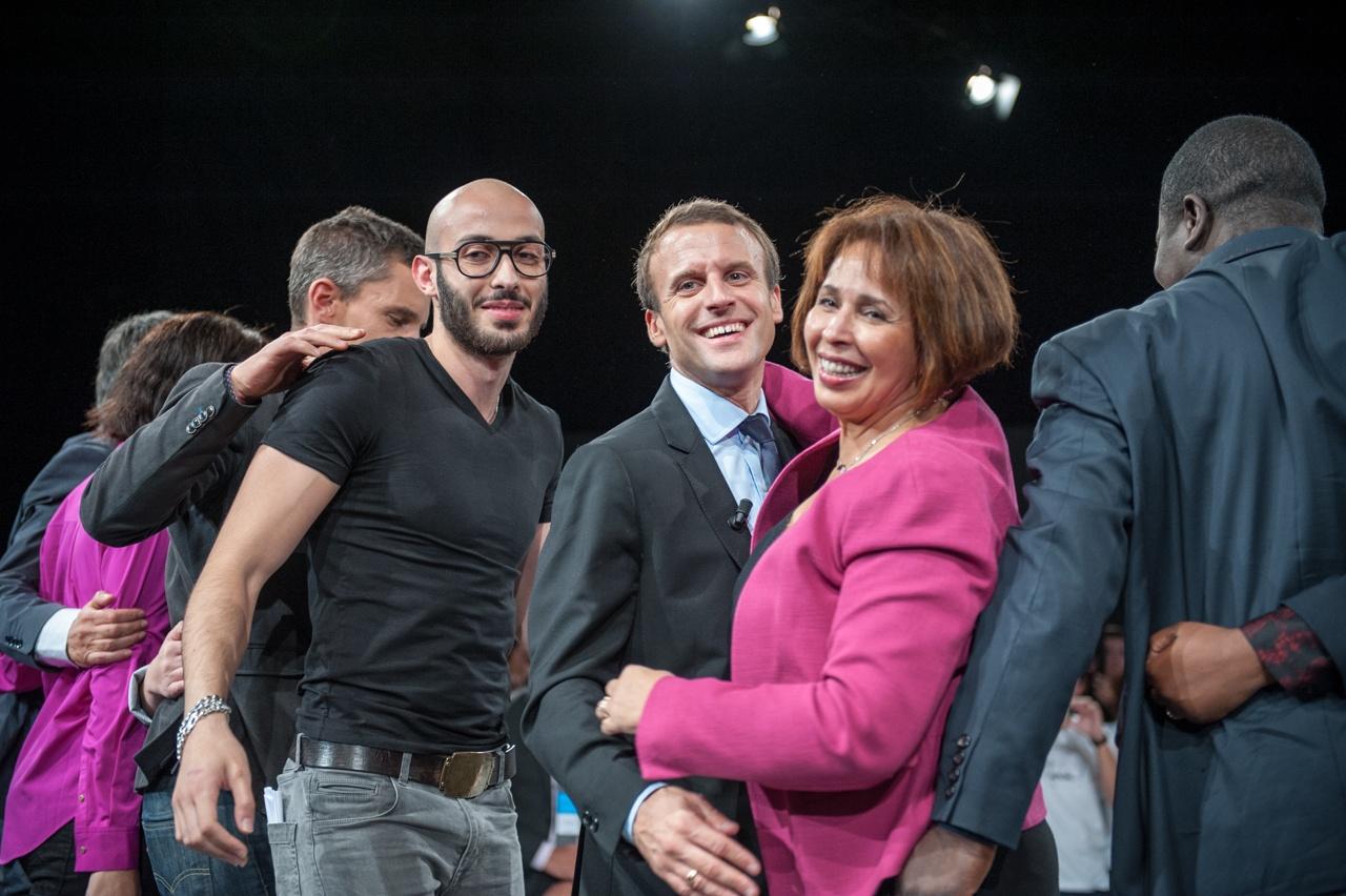 Emmanuel Macron in Strasbourg, France