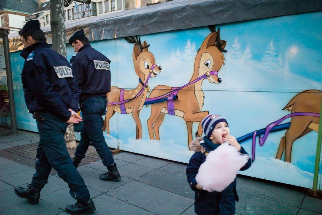 police patrol in Strasbourg