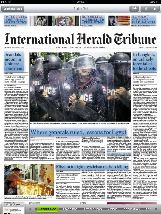 Tearsheet: Unrest in Thailand. IHT