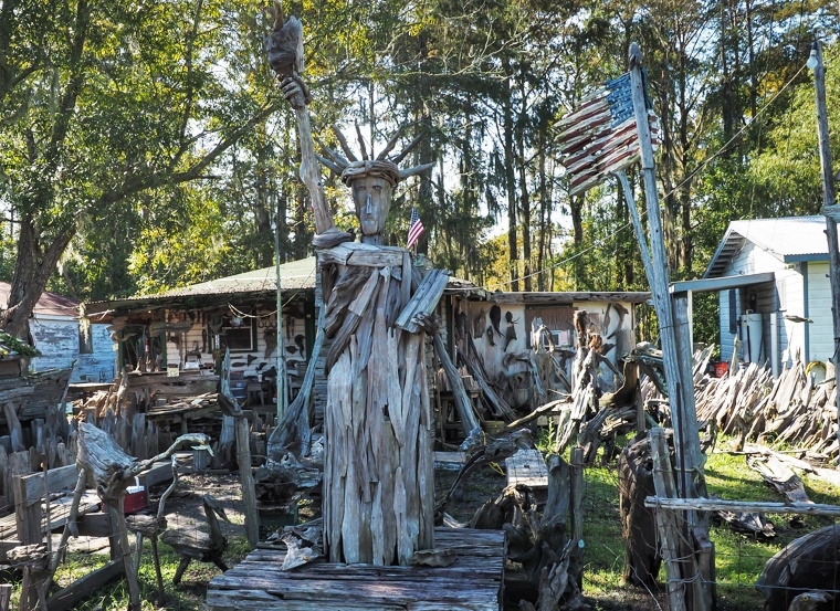 DRIFTWOOD SCULPTURES FROM AMERICA'S LARGEST SWAMP