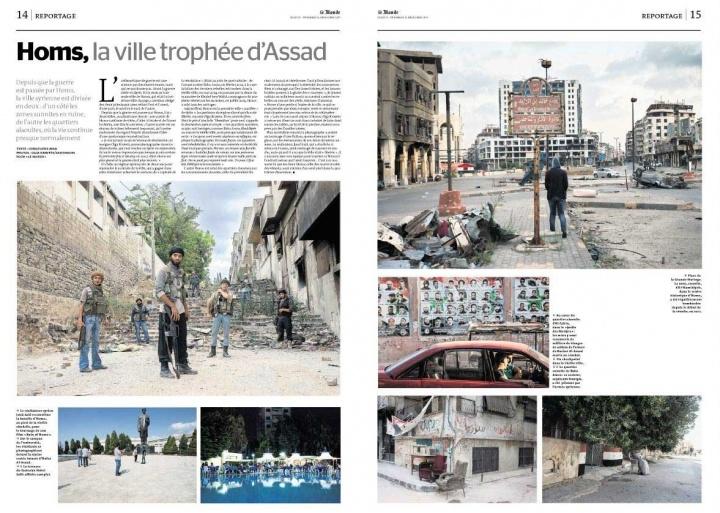 Homs, Syria, in Le Monde