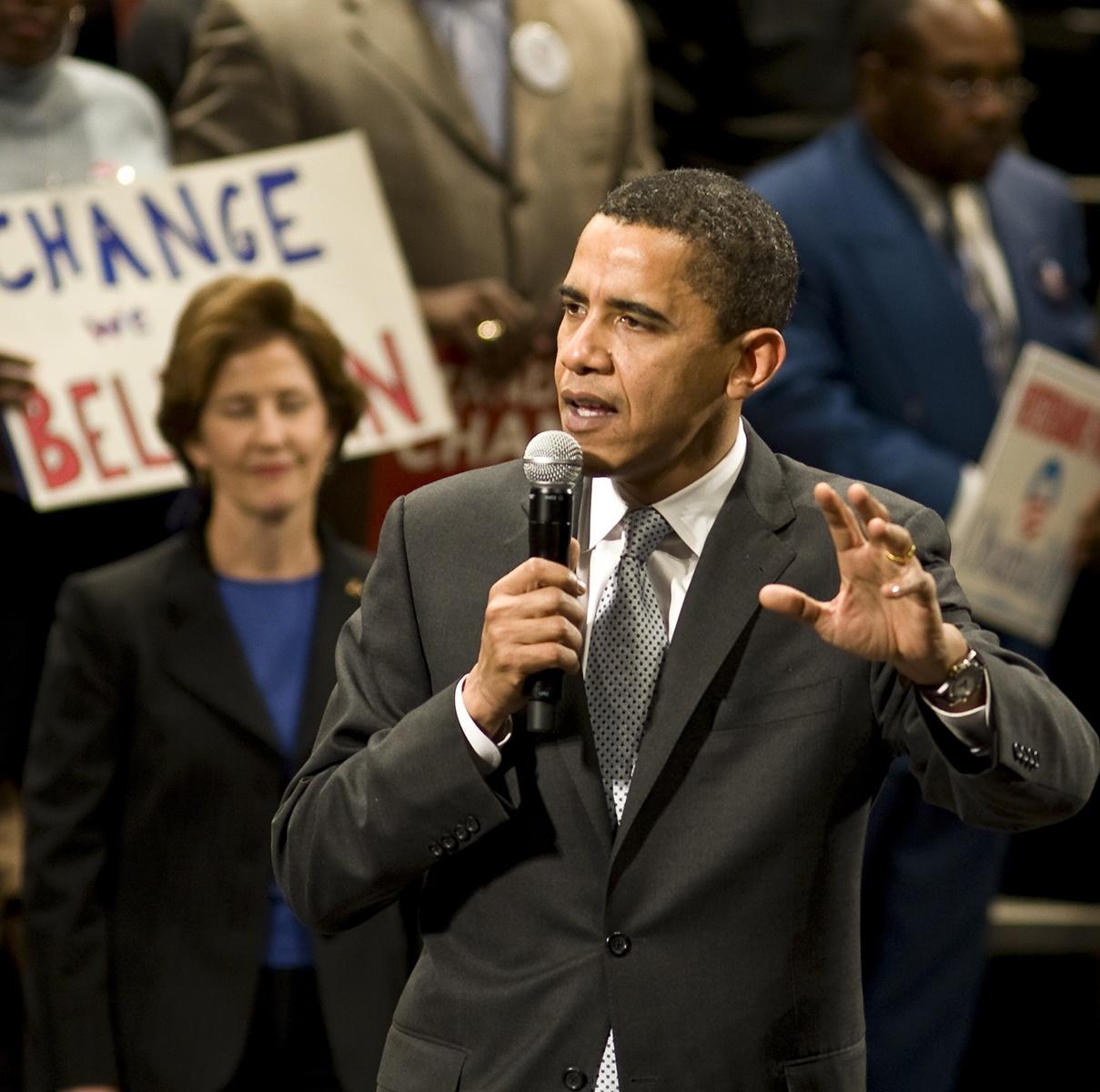 Then Senator Barack Obama