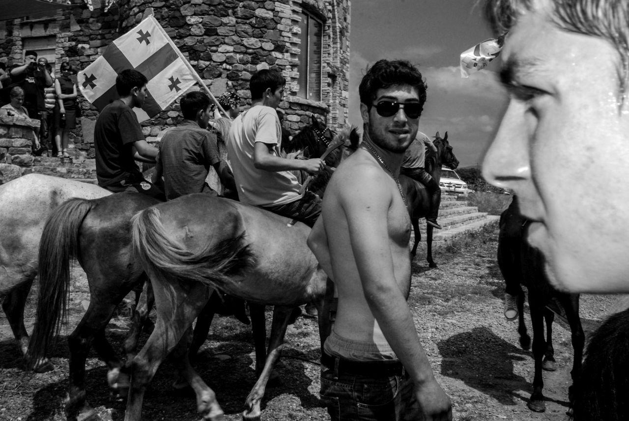 At the horse races. Dusheti, Georgia