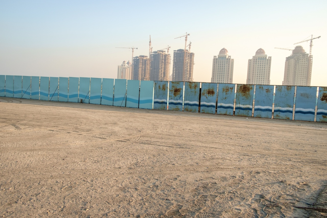 Construction site on The Pearl. Doha, Qatar