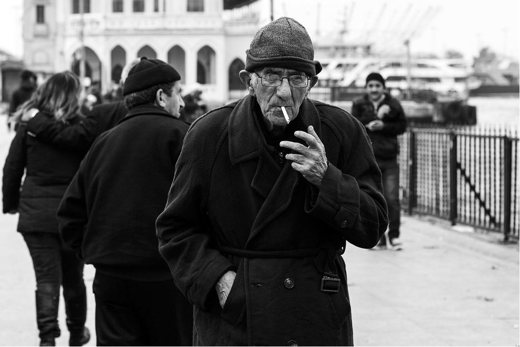 Man smoking, Istanbul