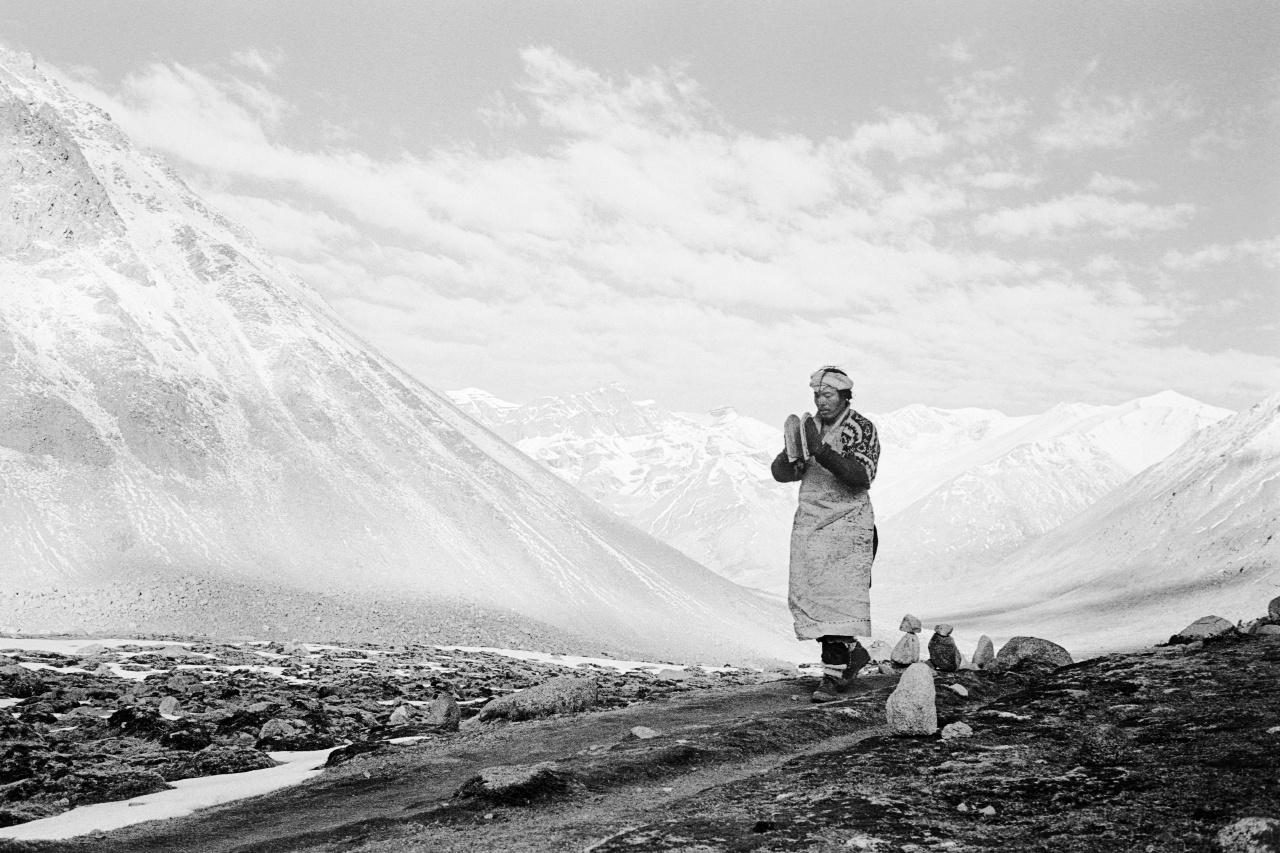 Pilgrim at Mt Kailash