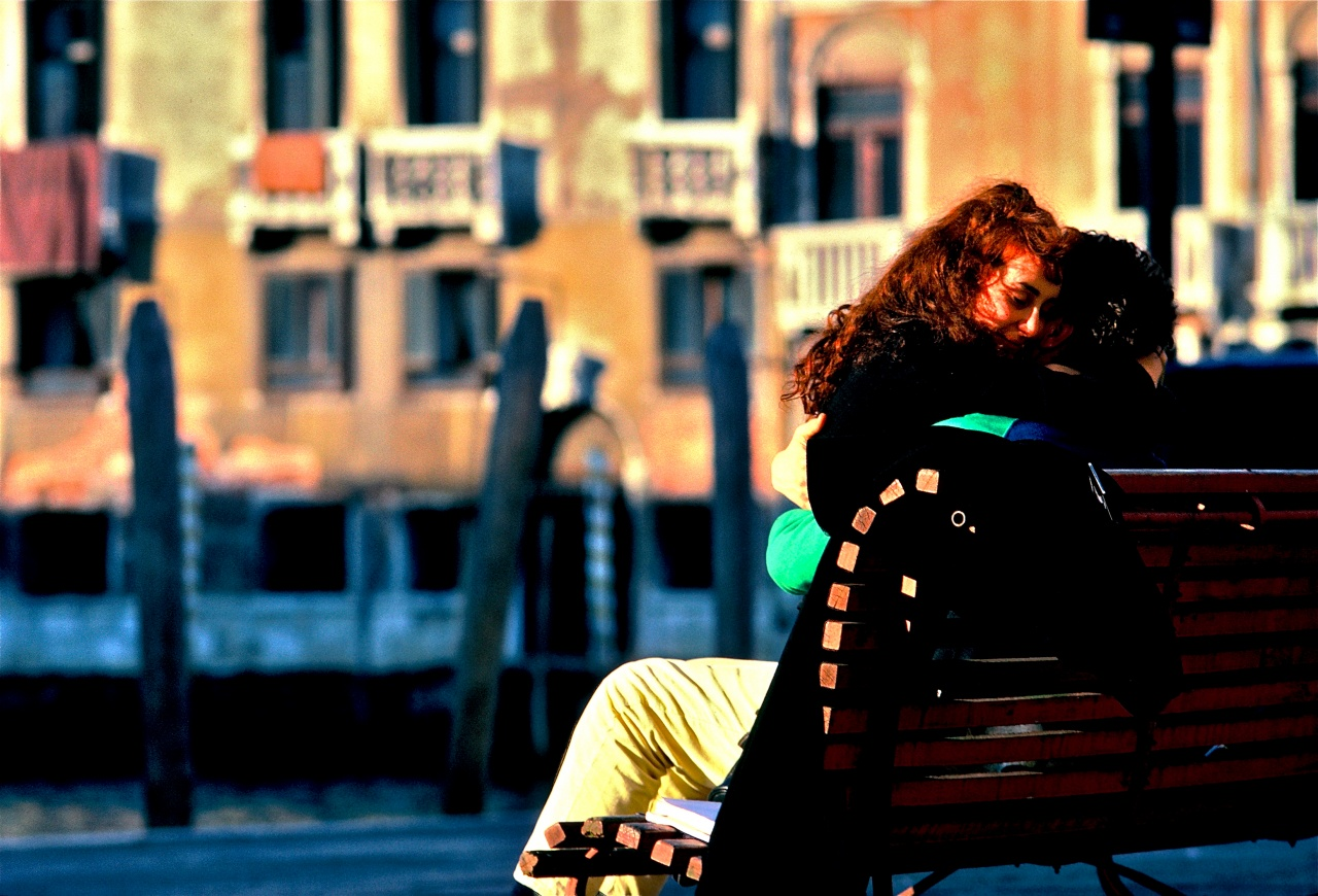 Kissing on the Bench / Venice, Italy