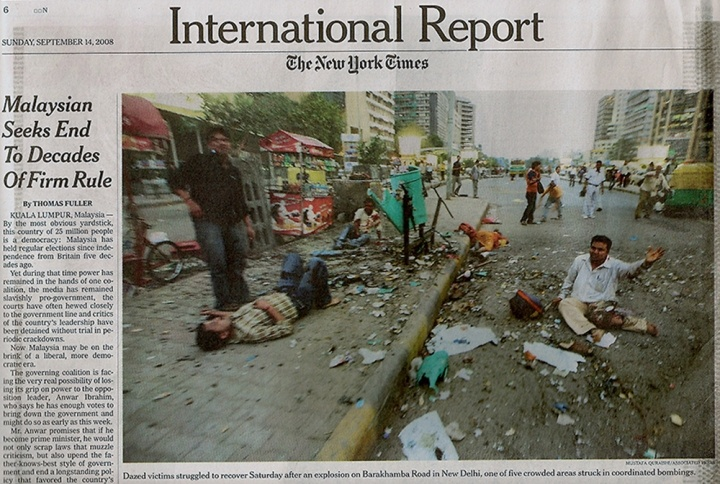 New Delhi Bomb Blast, 2008. In The New York Times.