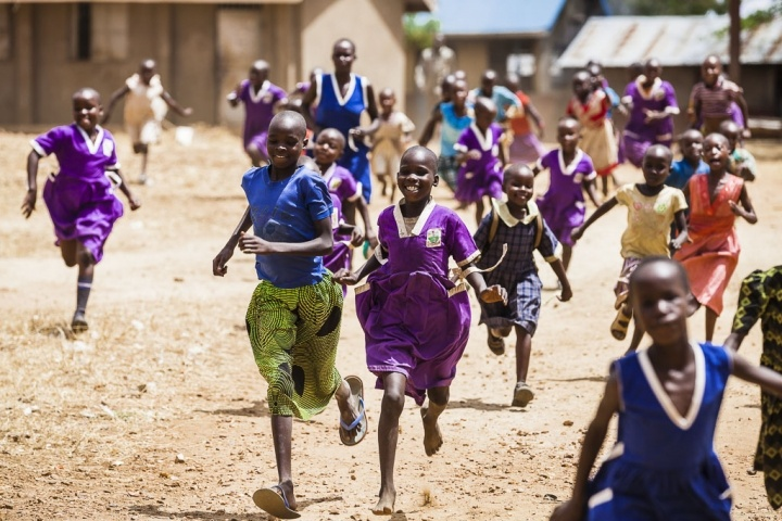 Playing at break -  Kibuuka Oscar- Action Aid