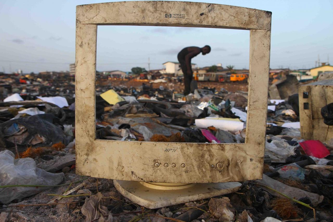 Electronic garbage dump, Ghana, 2013