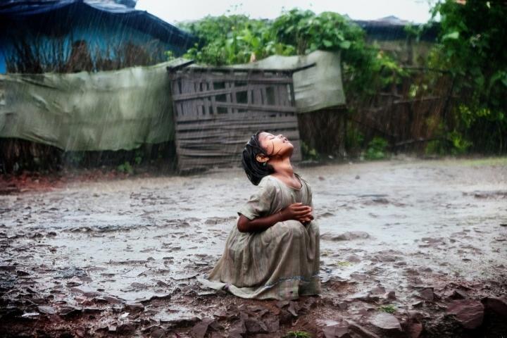 Poonam Revelling Under the Rain