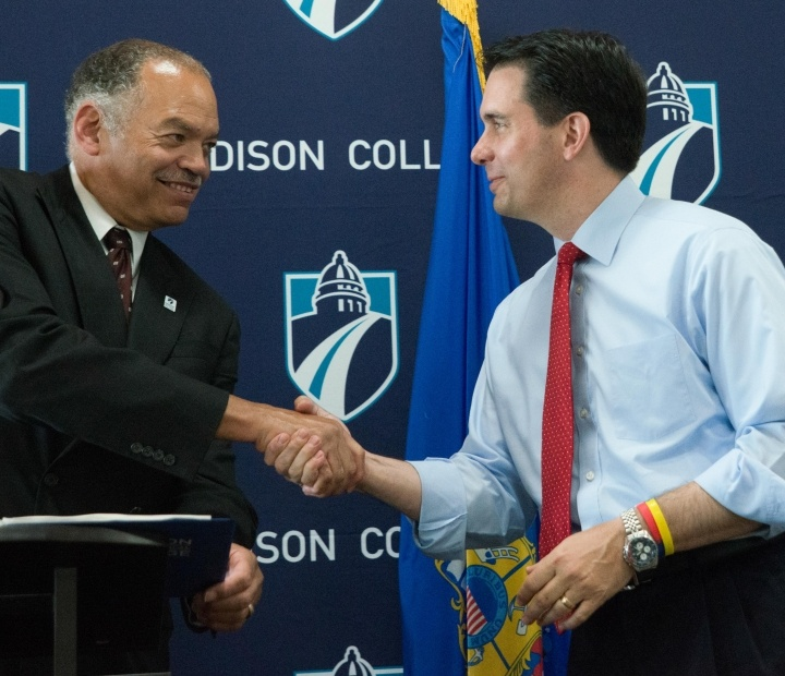 Governor Scott Walker visits Madison College