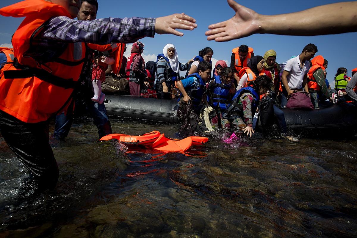 Refugees. Lesvos, Greece