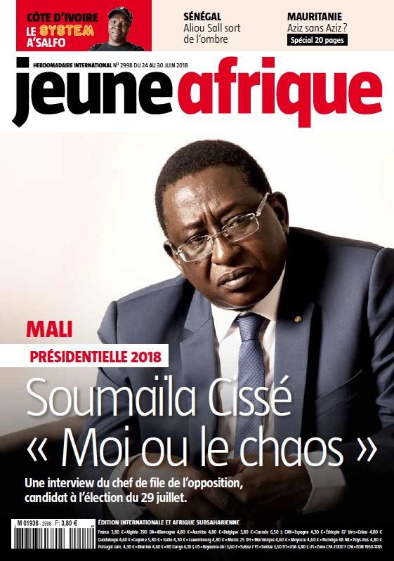 Couverture Jeune Afrique 25 juin 18