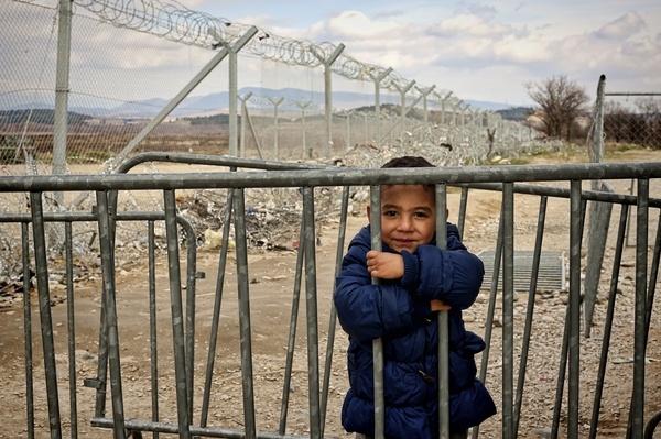 Refugees the Greece-Macedonian border