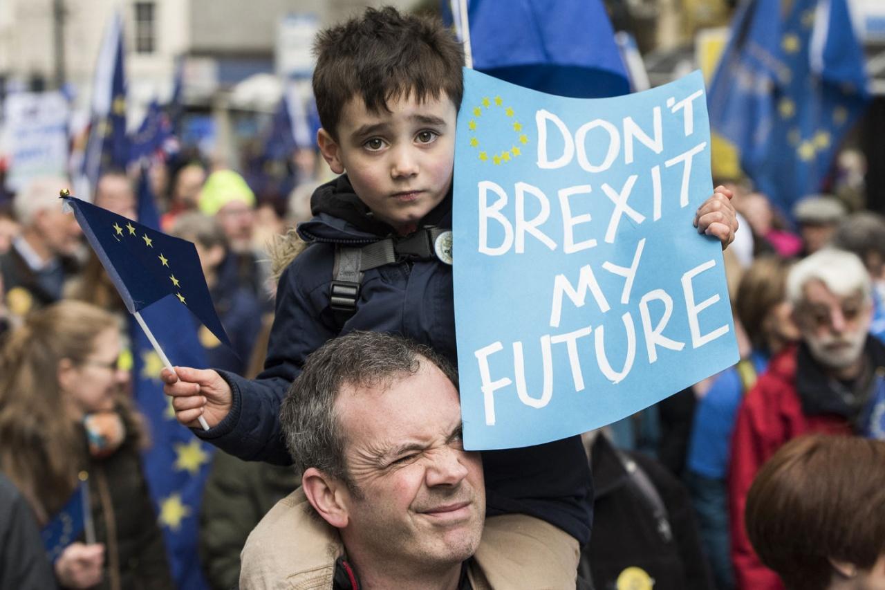Stop Brexit march in Leeds
