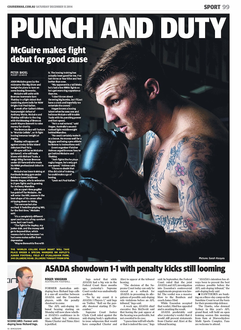 McGuire makes his fight Debut | Courier Mail