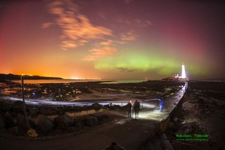 Northern lights, North east England
