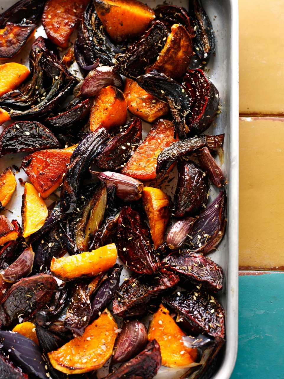 Roasted beets and butternut