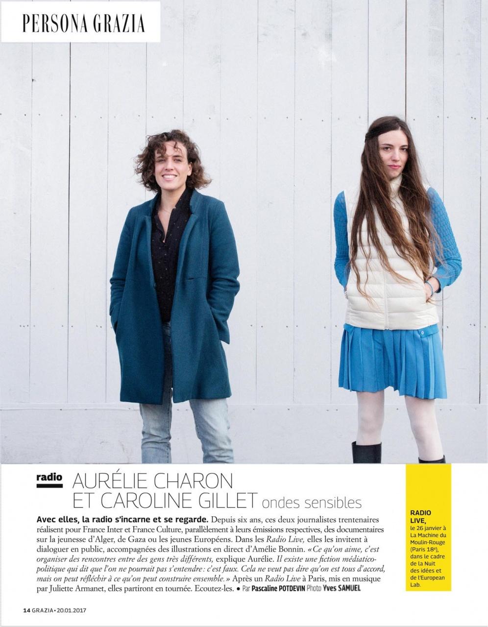 Aurélie Charon et Caroline Gillet