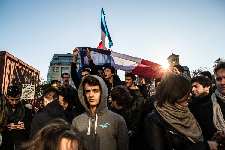 NYC Vigil for Paris