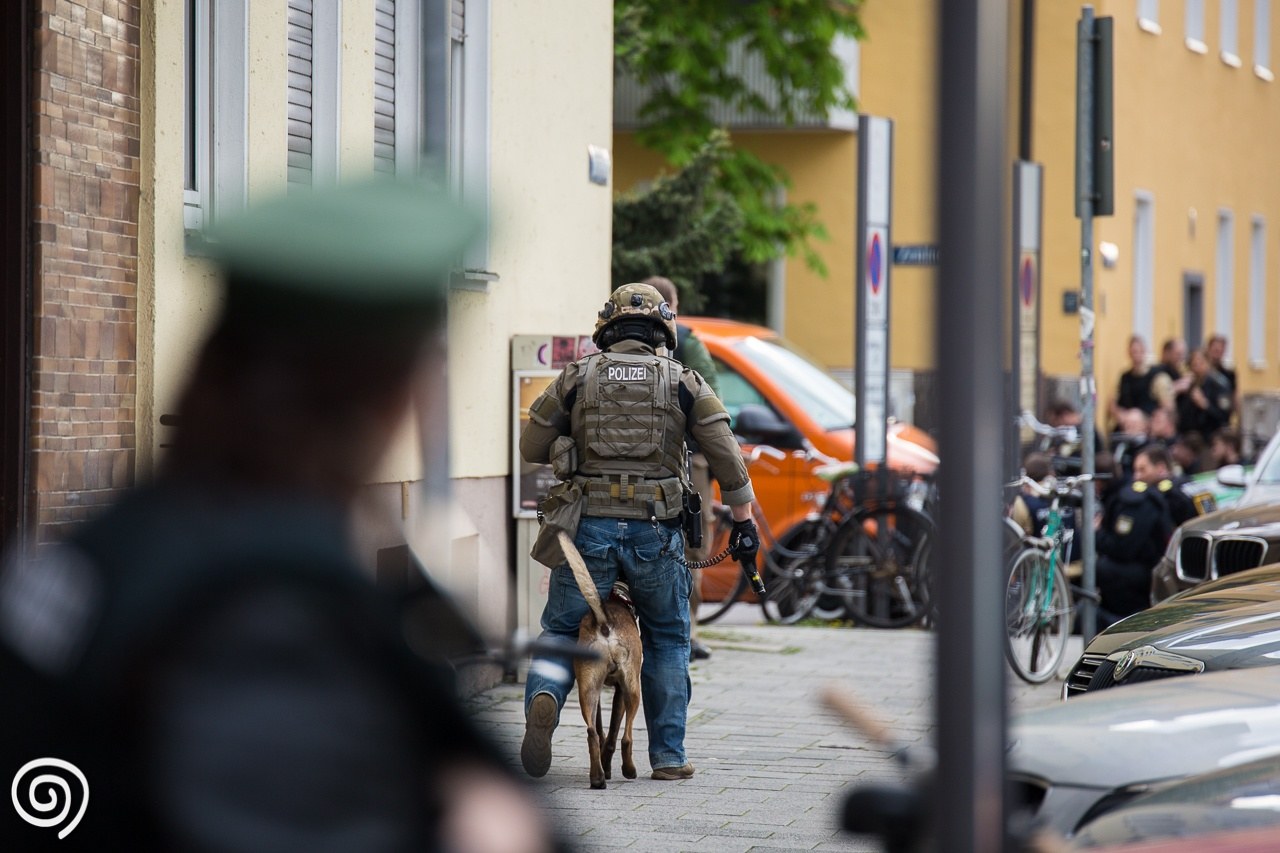 Shootout in central Munich