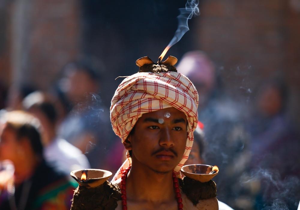 Madhav Narayan festival in Thecho, Lalitpur
