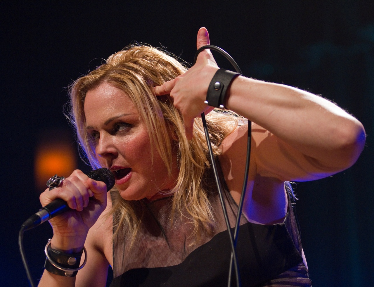 Storm Large performing on New Year's Eve.