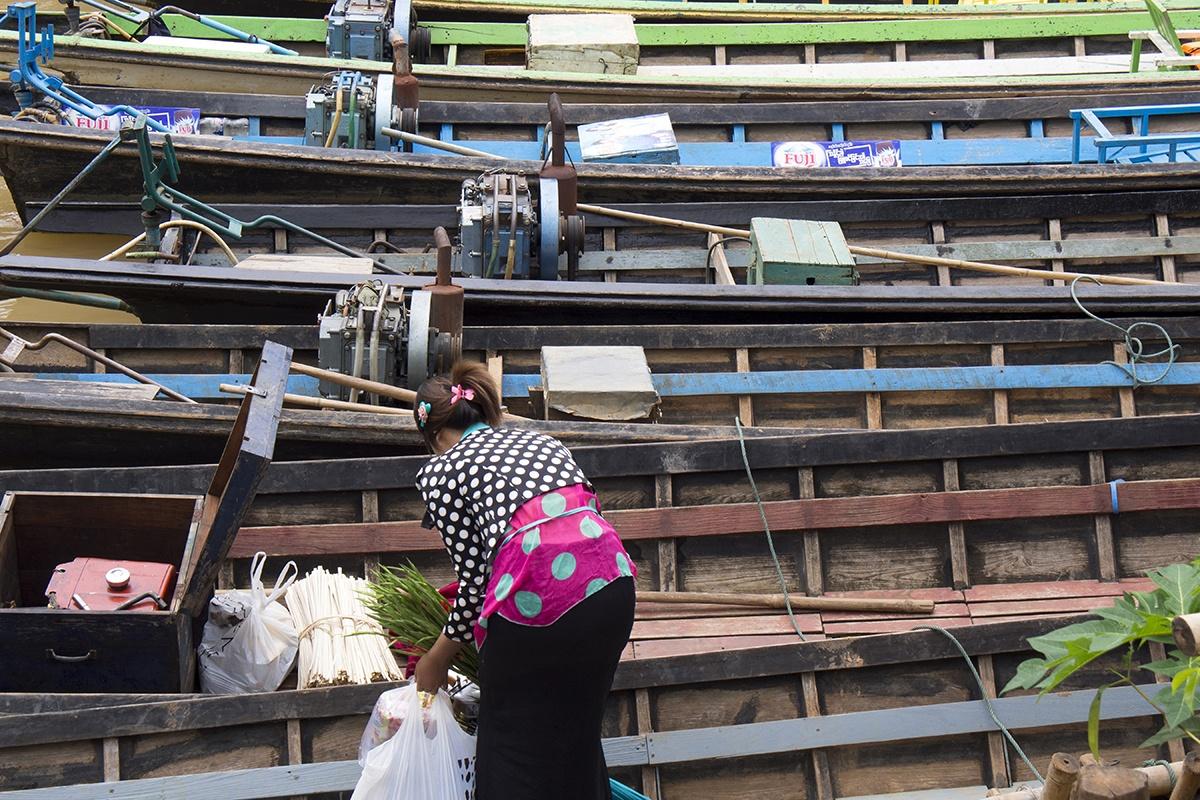 Water Commute; Inle Lake, Myanmar