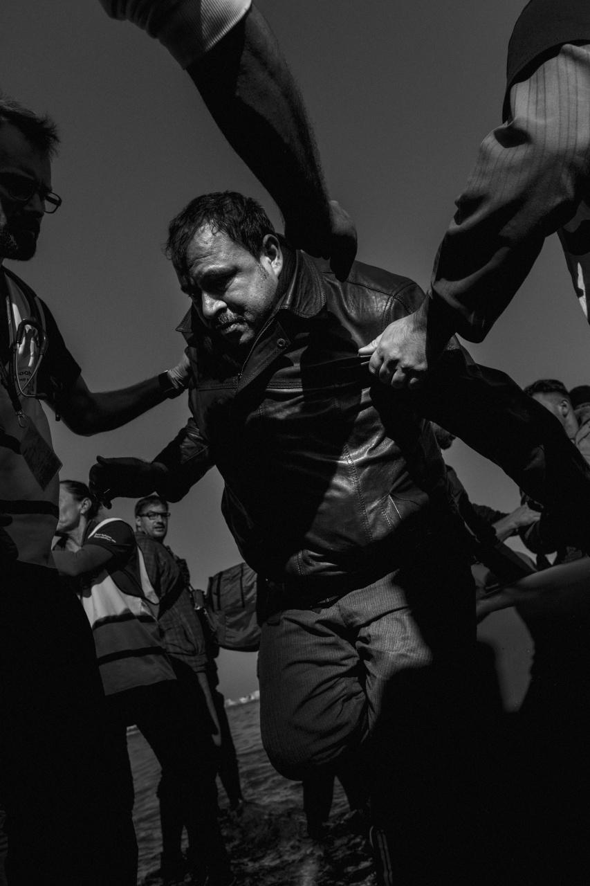 Lesvos refugee