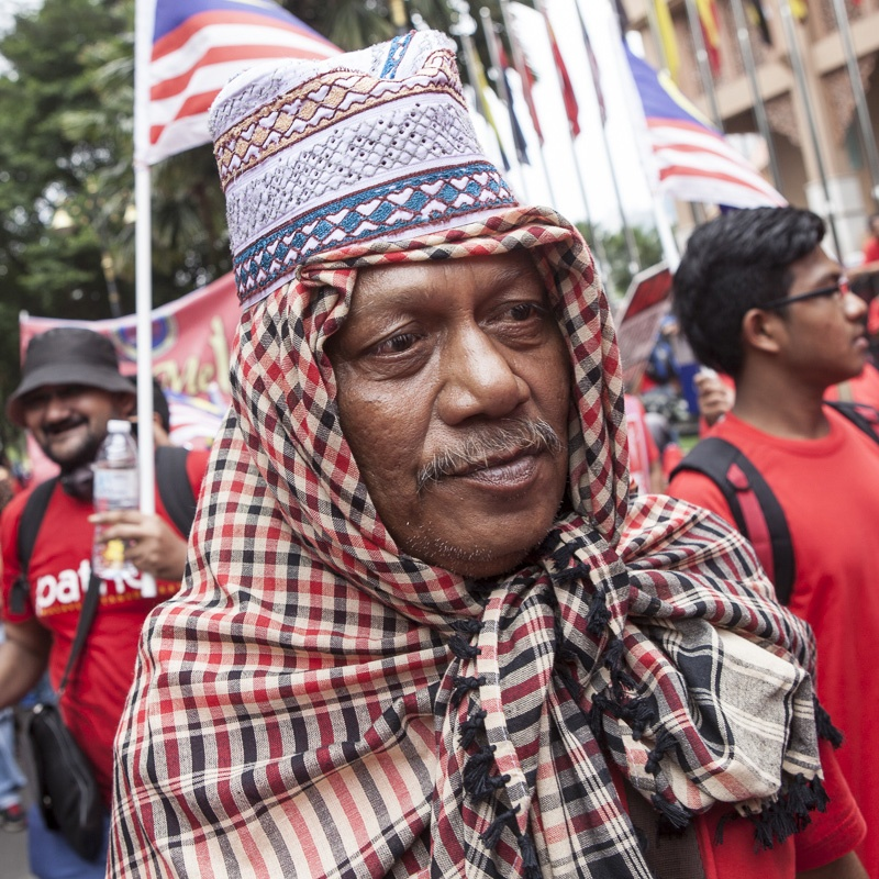 Red Shirts Protest - Kuala Lumpur, Malaysia