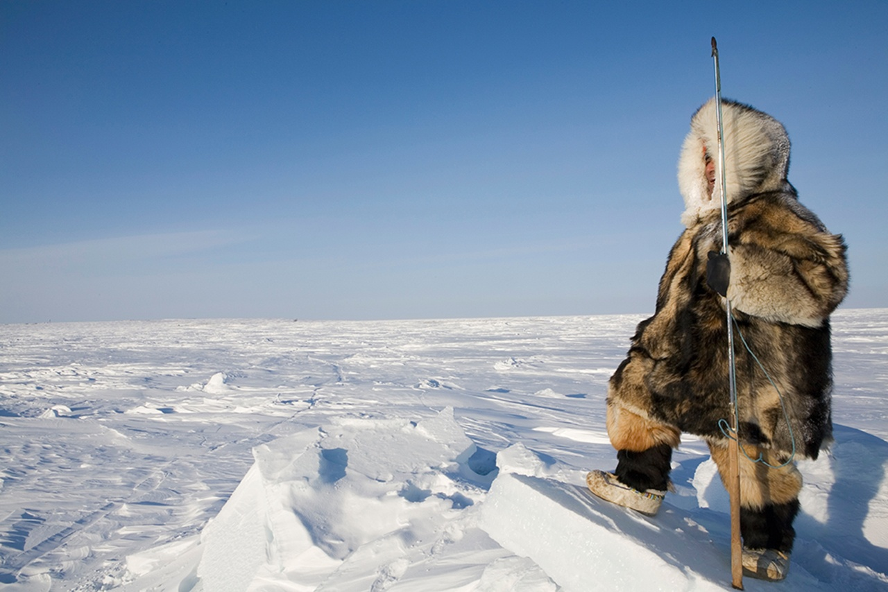 Inuit hunter at the NorthnPole