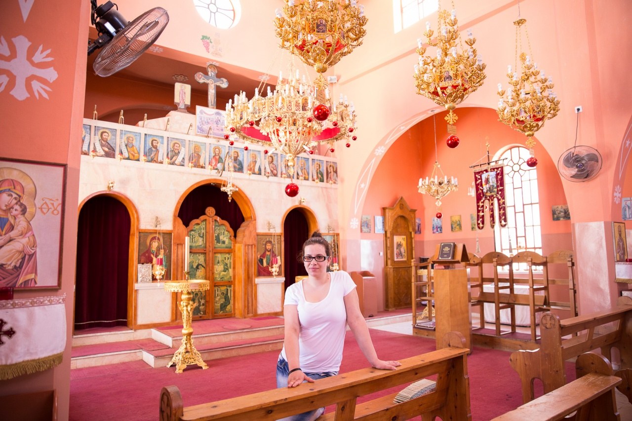 Rasha at her Church in the West Bank