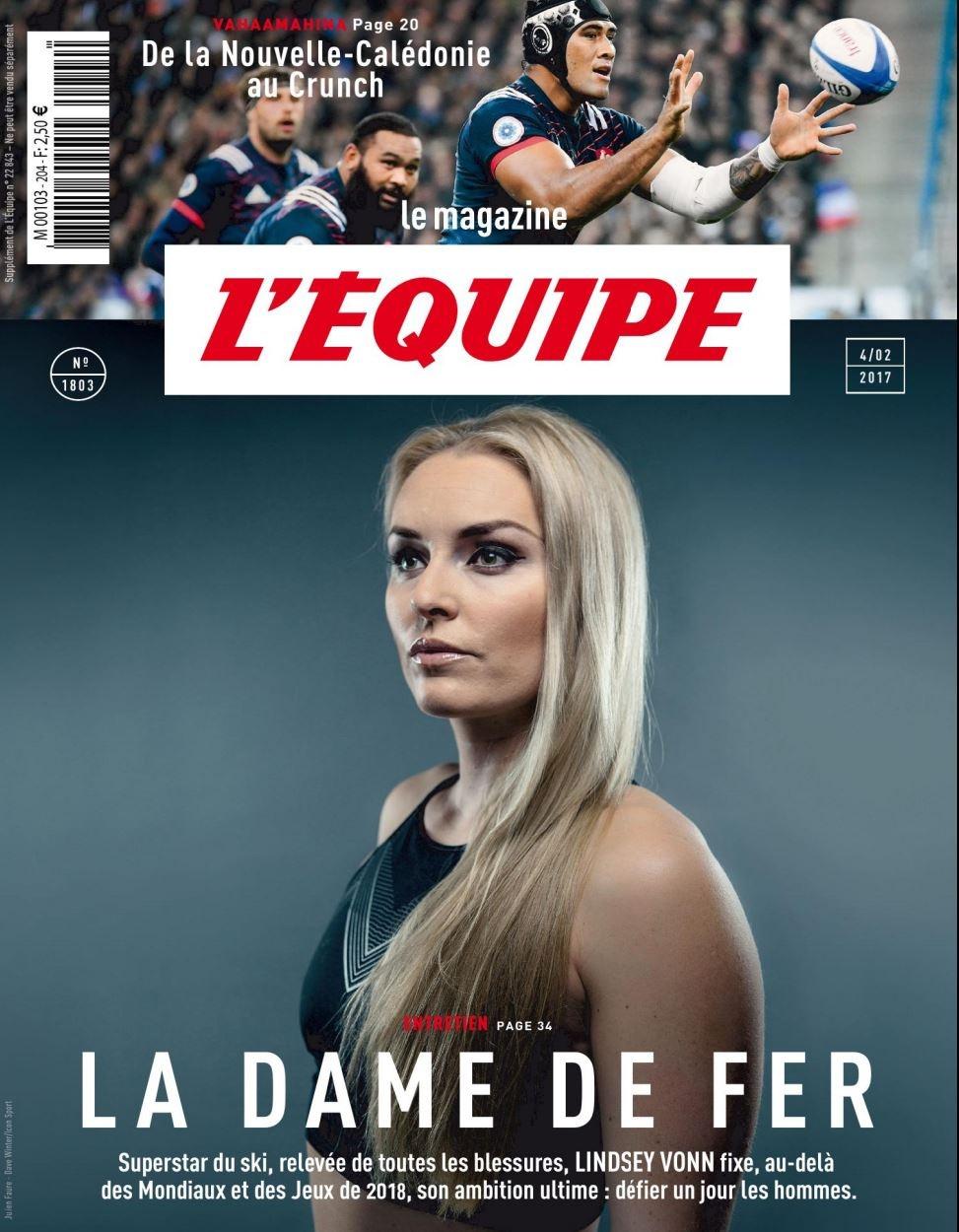 Lyndsey Vonn, L'Equipe Magazine