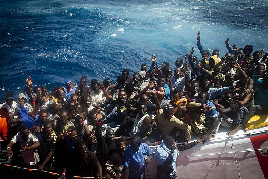 Rescued in the mediterranean sea