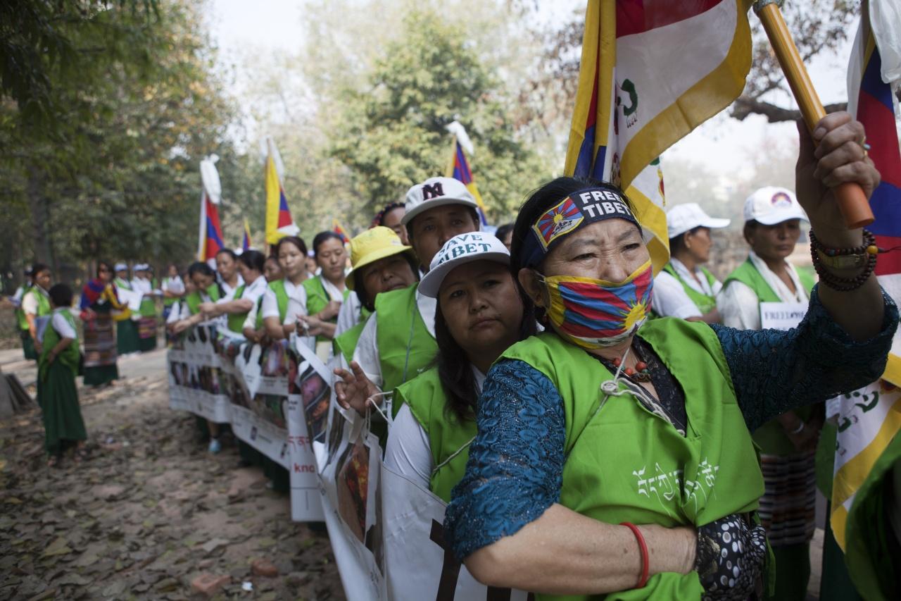 Free tibet march New Delhi