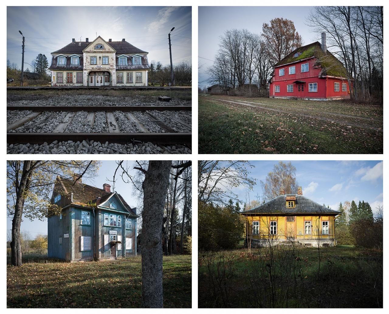 Estonian railway(less) stations