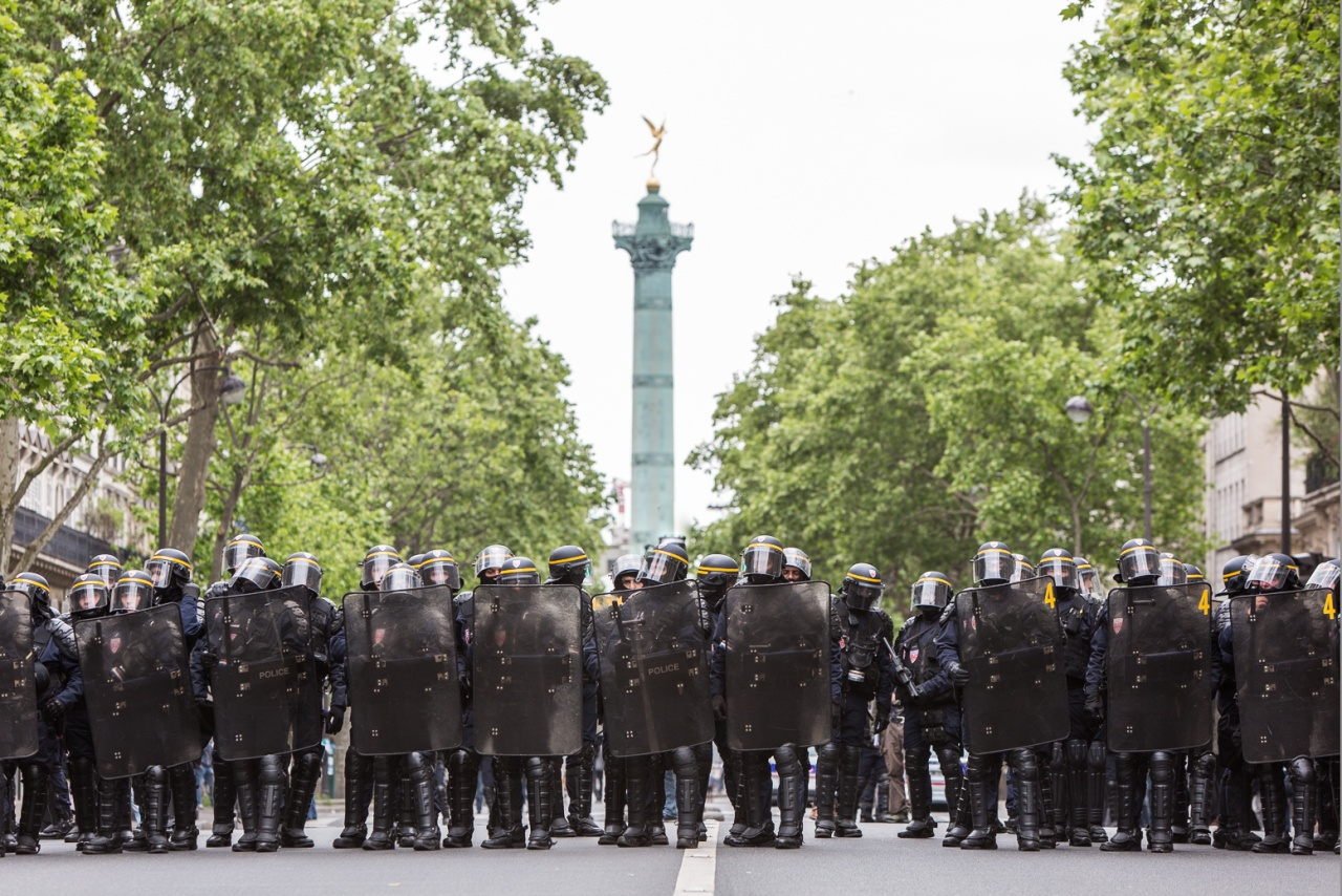 Anticapitalist protest in Paris.