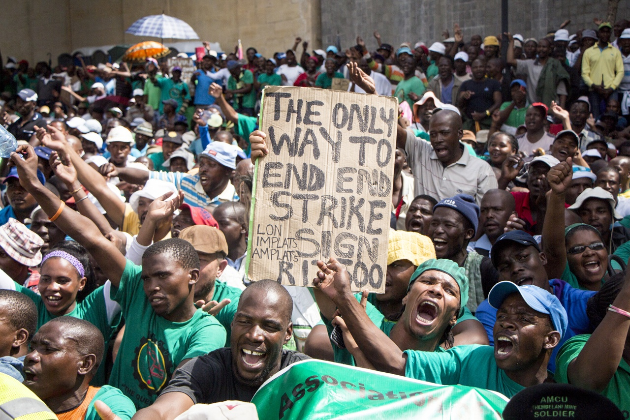 Miners' strike in South Africa
